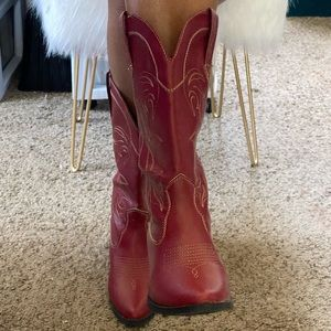Red and Tan Cowboy/Girl Boots